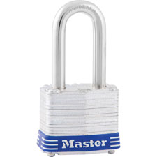 "Long shackle padlock, w/ 1-1/2"" shackle, rust-proof, sold as 1 each"
