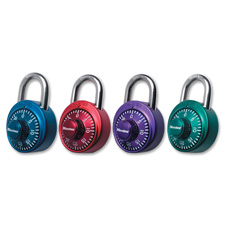 Numeric combination locks, steel shackle, assorted random, sold as 1 each