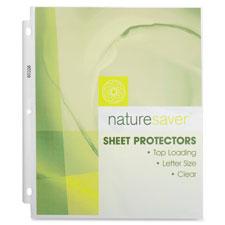 Nature Saver Environment Friendly Sheet Protectors