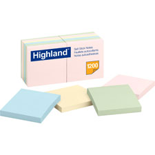 3M Highlands Assorted Plain Notepads