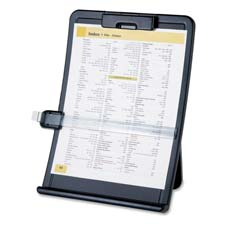 "Document holder, curved, line guide,10""x2-1/2""x14-3/8"",bk, sold as 1 each"