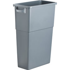 "Waste container, 23 gallon, 22-1/2""w x 11""d x 30"", gray, sold as 1 each"