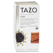 Tazo black tea, organic chai, 24/bx, sold as 1 box, 24 bag per box