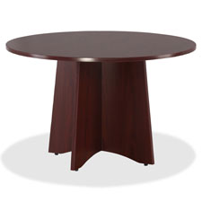 "Round conference tabletop, 42""dia., mahogany, sold as 1 each"