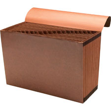 "Accordion file,w/flap,a-z,21 pocket,letter,12""x10"",brown, sold as 1 each"