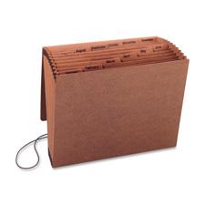 "Accordion file,w/flap,jan-dec,12 pocket,letter,12""x10"",brown, sold as 1 each"