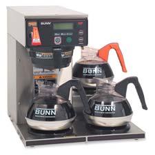 Bunn-O-Matic 12-cup Dgtl 3-Wrmr Commercial Brewer