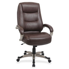 Lorell Westlake Leather Executive High-back Chair