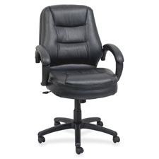 Lorell Westlake Series Managerial Mid-back Chairs