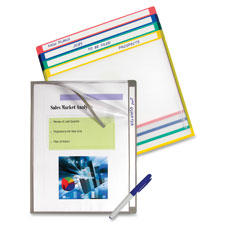 C-Line Colored-coded Folders w/ Write-on Tab