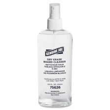Board cleaner, dry-erase, low-odor, 8oz, pump spray, sold as 1 each