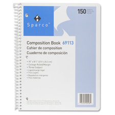 Sparco College Ruled 150 Sheet Composition Book
