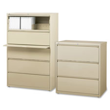 "Lateral file, 2-drawer, 36""x18-5/8""x28"", putty, sold as 1 each"