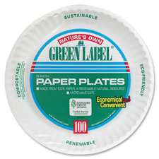 AJM Packaging Green Label Paper Plates