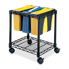 Safco Wire File Cart w/ Tubs