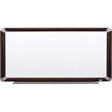 3M Mahogany Frame Porc. Magnetic Dry-erase Boards