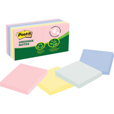 3M Post-it Notes Recycled Pastel Pads
