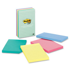 3M Post-it Notes Pastel Lined Pads