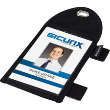 "Id badge holder,w/pen loop,pocket,2-1/4""x3-12"",black, sold as 1 each"
