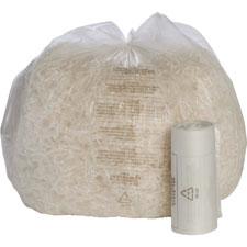 """Shredder bags, 0.8mil, 26 gallon, 31""""x36"""", 50/bx, cl, sold as 1 box, 100 each per box"""