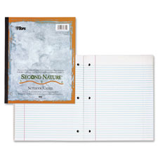 """Wireless notebook, 1-subject, college rld, 80 sh, 11""""x9"""", we, sold as 1 each"""