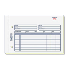 Rediform 7L721 Invoice Form, 2 Part, Carbonless, 5-1/2