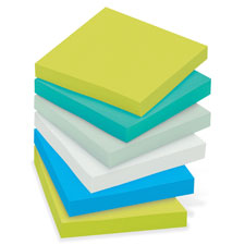 3M Post-it Super Sticky 3x3 Tropical Colors Pads