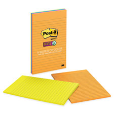 3M Post-it Super Sticky 5x8 Lined Pads