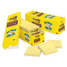 3M Post-it Super Sticky Canary Pads Cabinet Pak