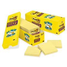 3M Post-it Super Sticky Canary Pads Cabinet Pak