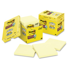 3M Post-it Super Sticky Canary Lined Cabinet Pak