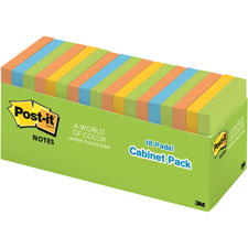 3M Post-it Super Sticky Asst. Bright Color Notes
