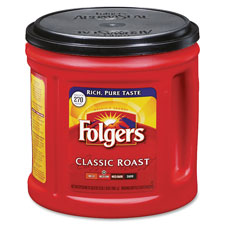 Folgers 00367EA Coffee, Classic Roast, Regular, 33.9 oz., FOL00367EA, FOL 00367EA
