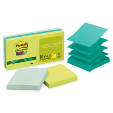 3M Post-it Super Sticky Tropical Pop-up Refills