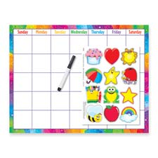 Trend Wipe-Off Cling Accent Calendar Kit