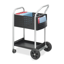 Safco Scoot Mail Cart w/ Side Pockets