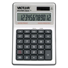 Victor 12-Dgt Display Washable TuffCalc Calculator