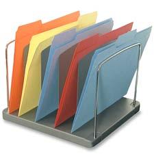 "Desk tray,5-pocket,vertical,11-1/8""x10-5/8""x8-3/8"",black, sold as 1 each"