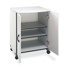 "Machine stand,f/ printer/copier,w/2-doors,23""x23""x31"",gray, sold as 1 each"