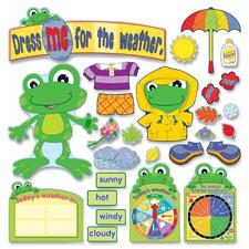 Carson Weather Frog Bulletin Board Set