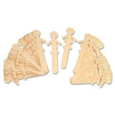 Chenille Kraft People Shaped Wood Craft Sticks