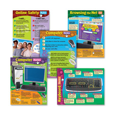 "Computer skills charts, 17""x22"", multicolor, sold as 1 package"