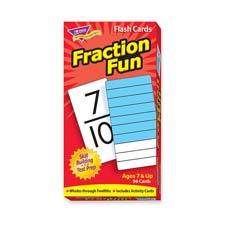 Fraction fun flash cards, 96/bx, sold as 1 box, 99 carat per box