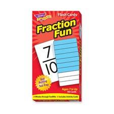 Fraction fun flash cards, 96/bx, sold as 1 box, 99 carat per box