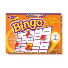 Synonyms bingo game, 3-36 players, 36 cards/mats, sold as 1 each