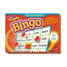 Homonyms bingo game, 3-36 players, 36 cards/mats, sold as 1 each