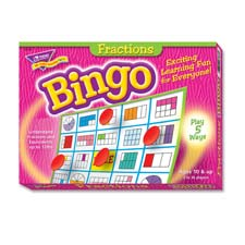 Fractions bingo game, 3-36 players, 36 cards/mats, sold as 1 each