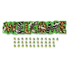 Trend Monkey Mischief Welcome Bulletin Board Set