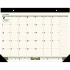 At-A-Glance Recycled Two-Colored Desk Pad