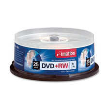 Imation Branded DVD+RW Disks Spindle